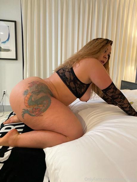 Big Round Tattooed Cellulite Booty