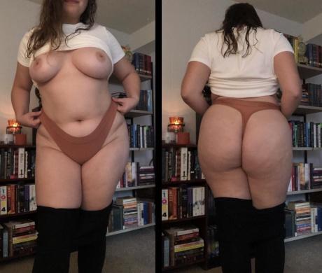 Crazyfishgoescrazy Big Booty BBW with a Dimpled White Ass