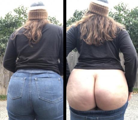 Crazyfishgoescrazy Fat Cellulite Ass in Jeans