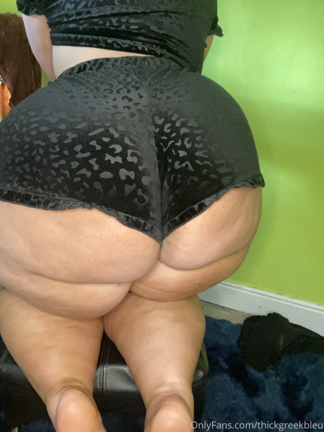Thick Cellulite Booty Closeup