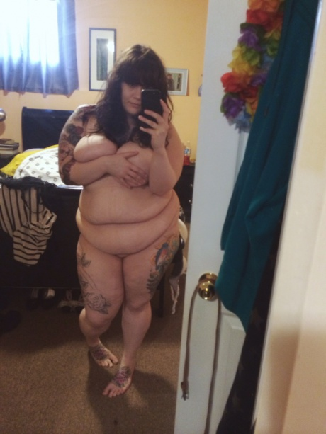 Big Belly BBW with Cellulite Thighs