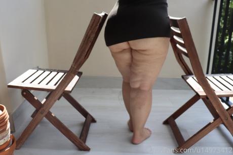 Big Cellulite Ass Upskirt