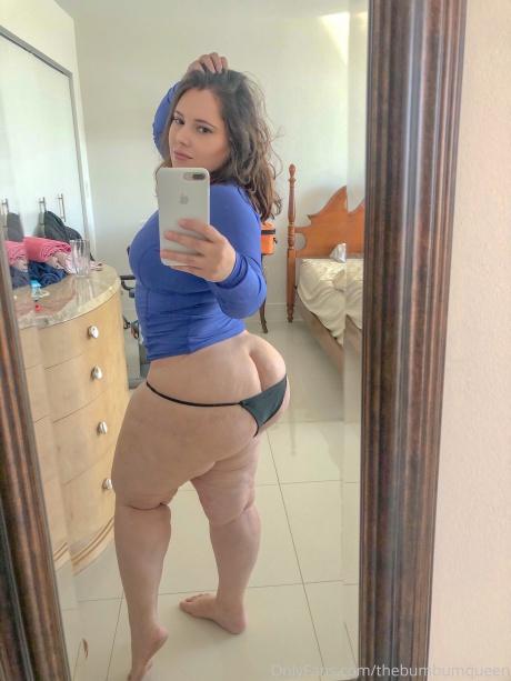 Big Jiggly White Thong Booty Selfie