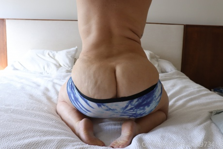 Big White Dimpled Cellulite Booty