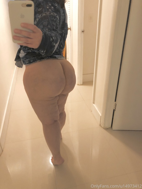 Bubble Butt Brunette with a Juicy White Ass