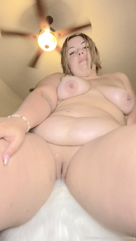 Cellulite Thighs and Shaved Pussy POV Close up