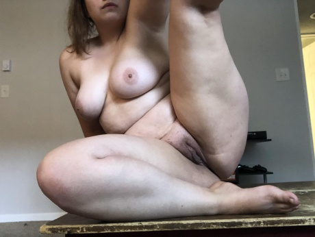 Chubby White Plumper with Fat Legs
