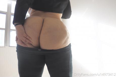 Fat Ass Cheek Spreading in Spandex
