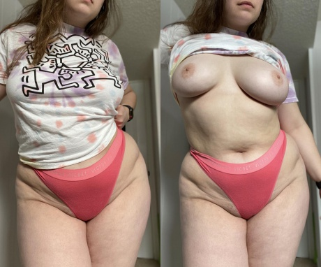 Fat White Girl with Thick Cellulite Thighs