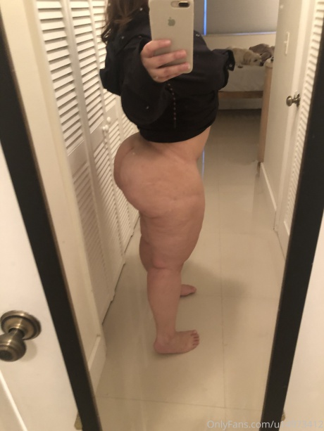 Homemade Amateur PAWG Cellulite Booty Selfie