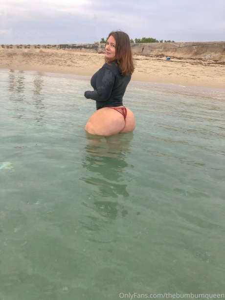 Juicy White Cellulite Booty Bathing
