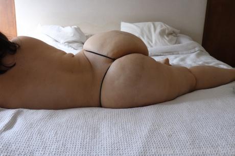 Massive Bubble Butt in a String Bikini Thong