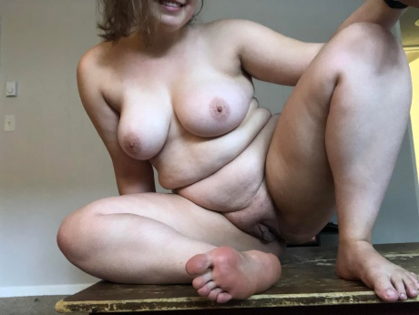 Naked White Girl with Thick Legs