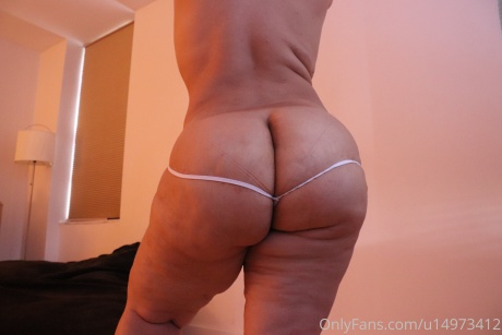 Thick White Booty in Thong Panties